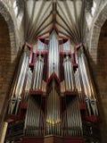 Bagno, Regno Unito - 4 novembre 2018: Organo della chiesa in Abbey Church di StPeter e di StPaul, conosciuta comunemente come l'a fotografie stock libere da diritti