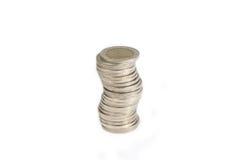 Bagno tailandese della moneta su bianco Fotografia Stock