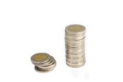 Bagno tailandese della moneta su bianco Fotografia Stock Libera da Diritti