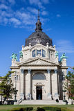 Bagno termico di Szechenyi, Budapest, Ungheria immagini stock