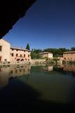 Bagno vignoni. Thermal baths in an medioeval italian town Royalty Free Stock Photo