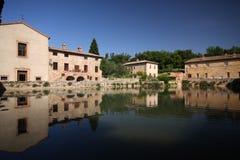 Bagno vignoni. Thermal baths at bagno vignoni Stock Images