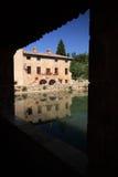 Bagno vignoni. Old town of bagno vignoni, tuscany Royalty Free Stock Photography