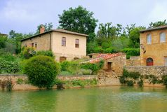 Bagno Vignoni Arkivfoto
