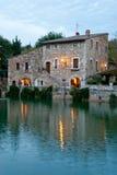 Bagno Vignoni hot springs, thermal waters, Tuscany Stock Image