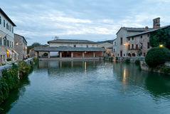 Bagno Vignoni hot springs, thermal waters, Tuscany Stock Photography