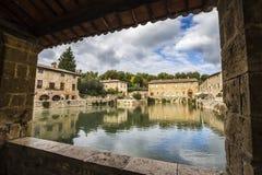 Bagno Vignoni, Italië Stock Afbeeldingen