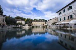 Bagno Vignoni, Italien Stockfotografie