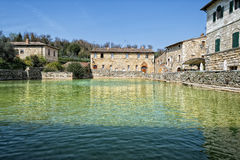 Bagno vignoni old pool Royalty Free Stock Photography