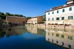 Bagno Vignoni spa in Tuscany Royalty Free Stock Photo