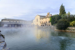 Bagno Vignoni. The thermal city of Bagno Vignoni Royalty Free Stock Images