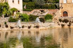 Bagno Vignoni - Toscana Italia immagine stock