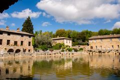 Bagno Vignoni - Toscana Italia fotografía de archivo