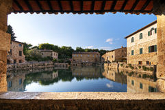Bagno Vignoni - Toskana stockfoto