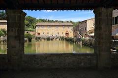 Bagno Vignoni Tuscany Royalty Free Stock Image