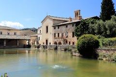 Bagno Vignoni Tuscany Stock Photo