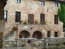 Bagno Vignoni w Tuscany. Zdjęcie Royalty Free