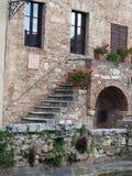 Bagno Vignoni w Tuscany. Zdjęcia Royalty Free