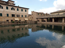 Bagno Vignoni w Tuscany. Fotografia Royalty Free
