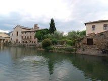 Bagno Vignoni w Tuscany. Fotografia Stock