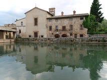 Bagno Vignoni w Tuscany. Zdjęcie Stock