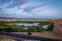 Bagno zatoczki rezerwuar przy wschód słońca fotografia stock