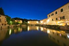 bagnoitaly tuscany vignoni Arkivbilder