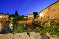 bagnoitaly tuscany vignoni royaltyfri fotografi