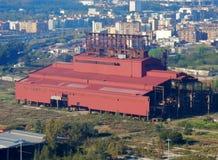 Bagnoli - industriell arkeologi Arkivfoto