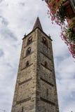 Bagnolo Piemonte, Cuneo, historyczny wierza zdjęcie stock