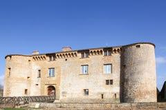 Bagnols城堡在博若莱红葡萄酒 图库摄影