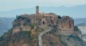 Bagnoregio город-привидение около Рима Стоковое Изображение