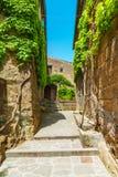 Bagnoregio piękny stary miasteczko w środkowym Włochy Obrazy Royalty Free