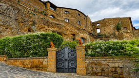 Bagnoregio town, Lazio, Italy, in the foreground, Stock Photos