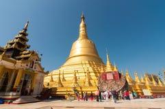 Bago, 21.2014 Μιανμάρ-Φεβρουαρίου: Παγόδα Shwemawdaw Στοκ Εικόνες