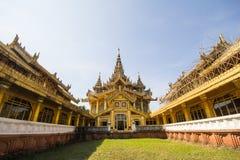 BAGO-MYANMAR-DECEMBER 27: Kambawza Thardi pałac na Grudniu 27, 2015 w Bago, Myanmar Obrazy Stock