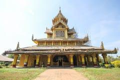 BAGO-MYANMAR-DECEMBER 27: Kambawza Thardi pałac na Grudniu 27, 2015 w Bago, Myanmar Obraz Royalty Free