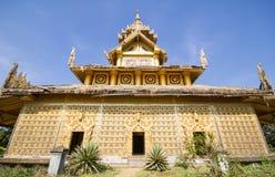 BAGO-MYANMAR-DECEMBER 27: Kambawza Thardi slott på December 27, 2015 i Bago, Myanmar Arkivbilder