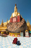 Bago, Myanmar-February 21,2014: Shwemawdaw pagoda Stock Photo