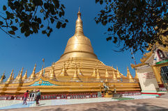 Bago, Myanmar-February 21,2014: Shwemawdaw pagoda Royalty Free Stock Photos