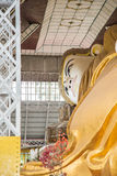 Bago, MYANMAR - 22 juin : Shwethalyaung Bouddha étendu en juin Images stock