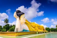 Bago Myanmar Reclining Buddha Royalty Free Stock Image