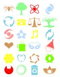Bagong icons2 plain. Vector illustration of a set of different icons royalty free illustration