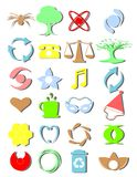 Bagong icons2 with shadow. Illustration of different colored icons vector illustration