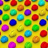 Bagout coloré d'illustration de cerveau Images libres de droits