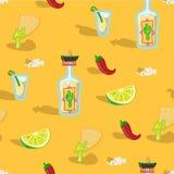 Bagout sans couture mexicain de nourriture illustration stock