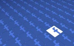 Bagout social de signes de Facebook de réseau Images libres de droits