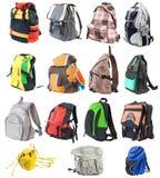 Bagpack vastgestelde #1 | Geïsoleerdt Stock Afbeeldingen