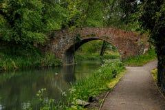 Bagpath Bridge, Thrupp, Severn-Thames Canal. Bagpath Bridge near Thrupp on the Severn-Thames Canal, Cotswolds, United Kingdom stock images