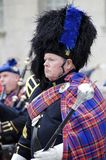 Bagpipe Band Leader Royalty Free Stock Image